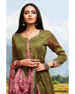 Trendy Silk Cotton Salwar Kameez